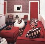 Red and Black With Geometric Accents